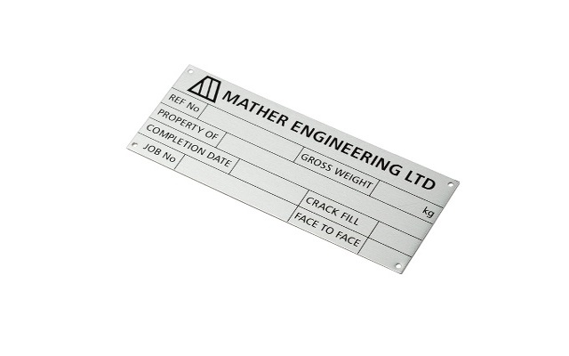 Metal sign for Mather Engineering