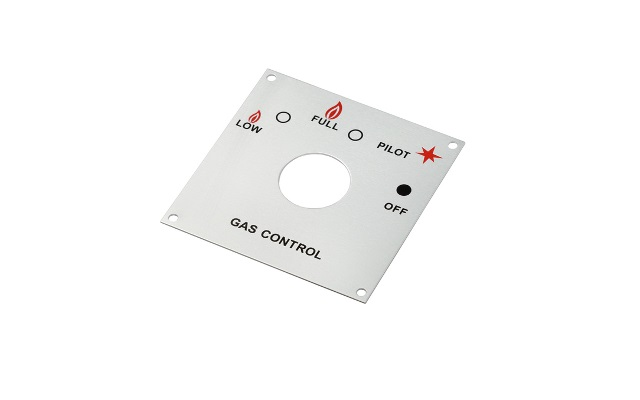Stainless Steel Gas Control Label