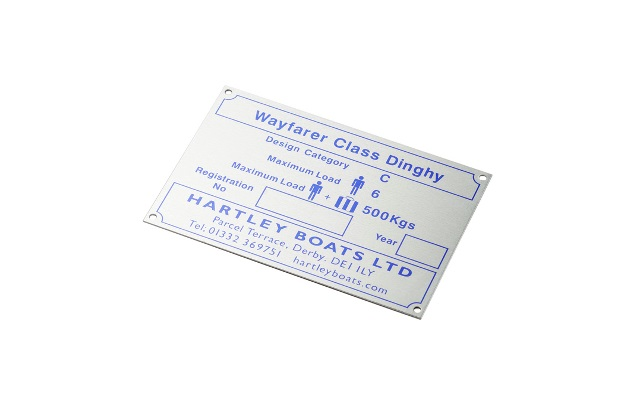 Metal boat label