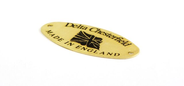 Example oval brass nameplate