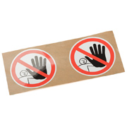 Warning label Stop No entry logo