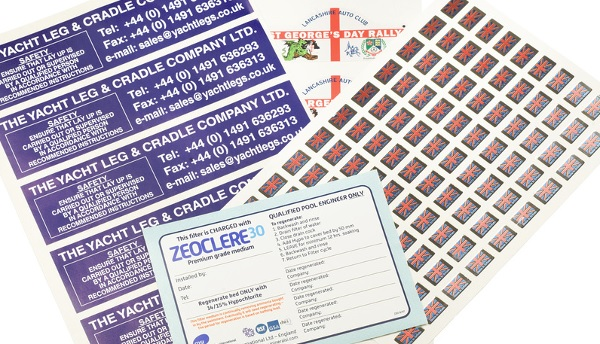 A variety of polycarbonate labels