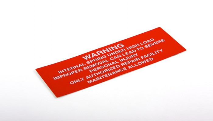 Health and Safety Warning label