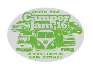 Weston Park Camper Jam '16 Car rally badge