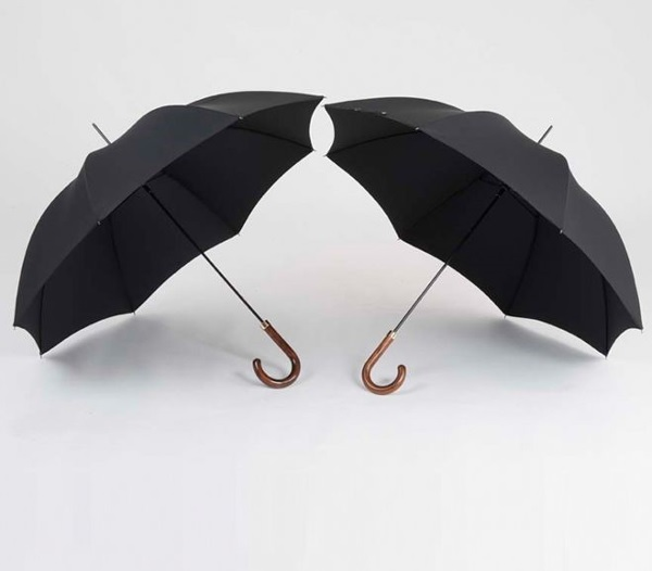 Two traditional Richard Ince black umbrellas