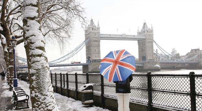 Richard Ince United Kingdom flag umbrella