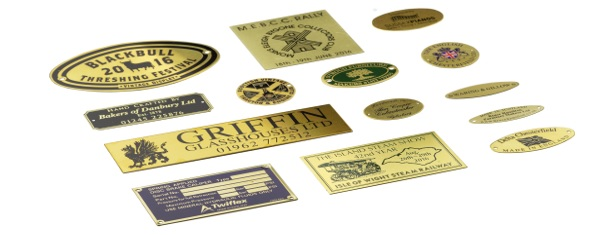 A variety of sample metal signs