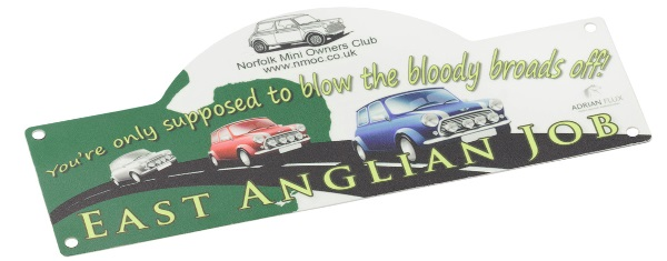 Norfolk Mini Owners Club 'East Anglian Job' plate